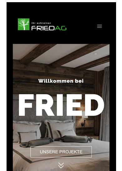 Fried AG Responsive Website