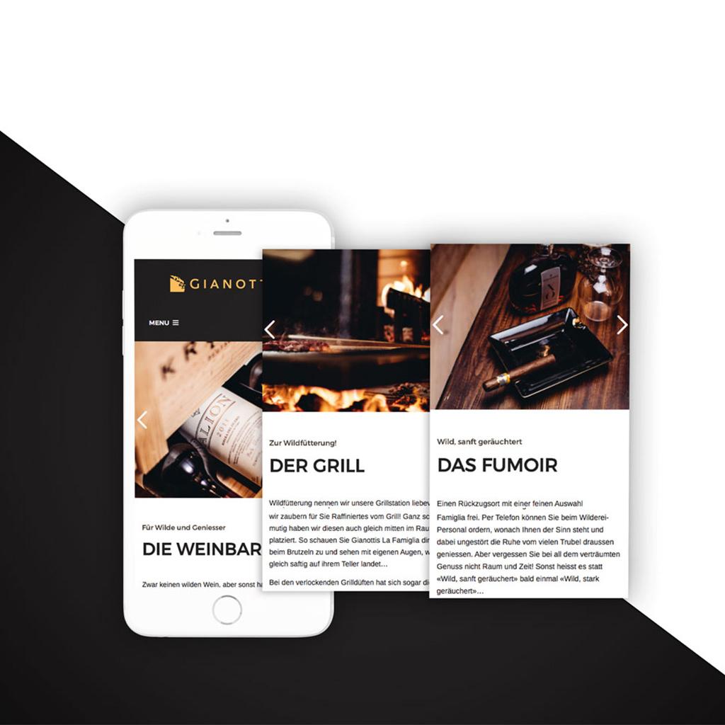 Design Terminal, Gianottis Portfolio